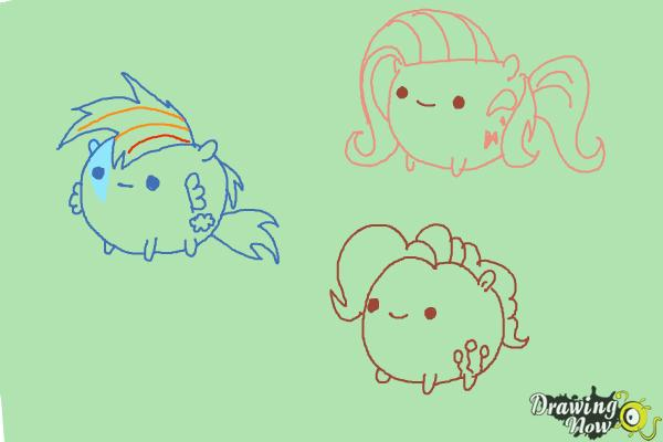 How to Draw My Little Pony Characters, Kawaii - DrawingNow