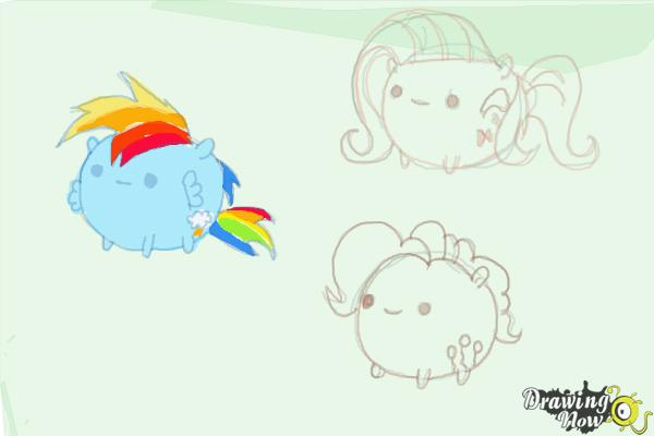 How to Draw My Little Pony Characters, Kawaii - Step 19
