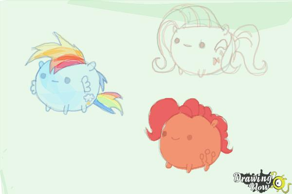 How to Draw My Little Pony Characters, Kawaii - Step 20