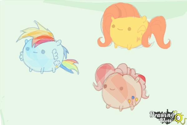 How to Draw My Little Pony Characters, Kawaii - Step 21