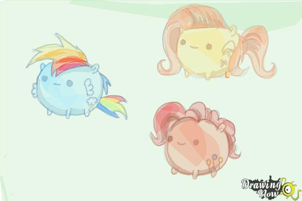 How to Draw My Little Pony Characters, Kawaii - Step 22