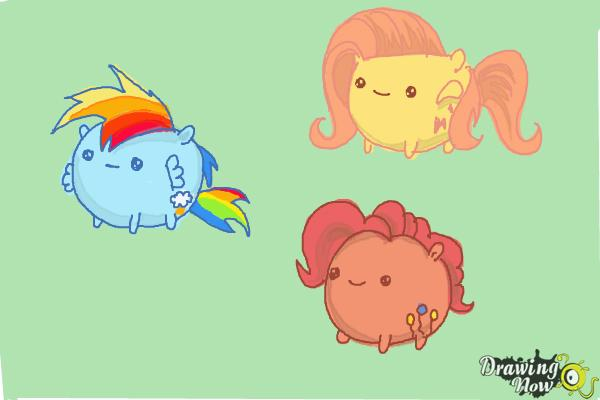 How to Draw My Little Pony Characters, Kawaii - Step 23