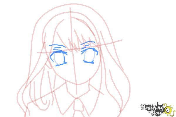 How to Draw Hermione Granger, Manga - Step 10