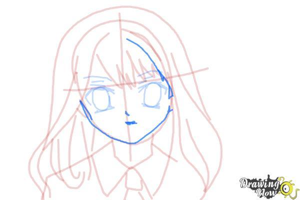 How to Draw Hermione Granger, Manga - Step 11