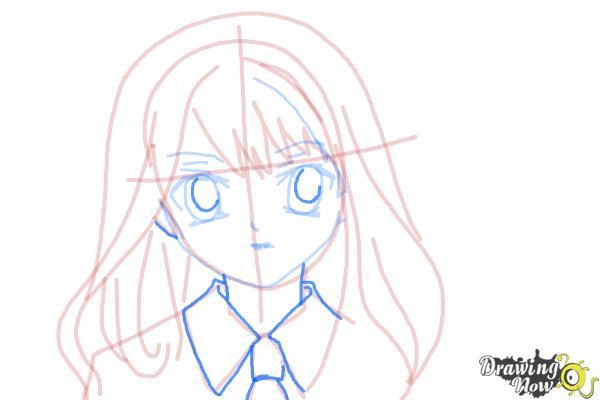How to Draw Hermione Granger, Manga - Step 12