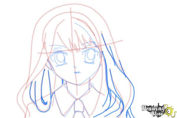 How to Draw Hermione Granger, Manga - Step 13