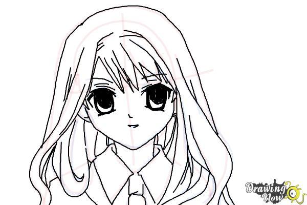 How to Draw Hermione Granger, Manga - Step 14