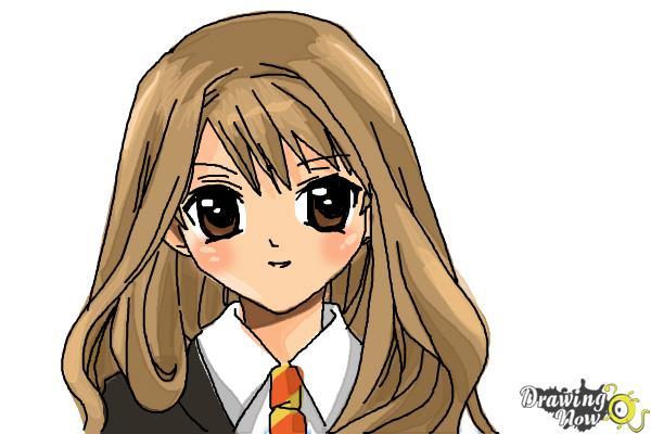 How to Draw Hermione Granger, Manga - Step 15