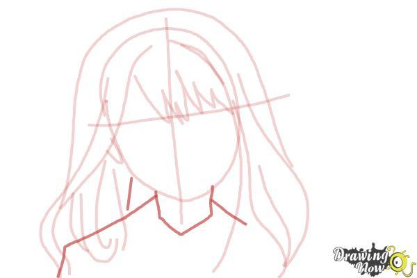 How to Draw Hermione Granger, Manga - Step 7
