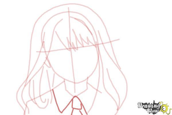 How to Draw Hermione Granger, Manga - Step 8