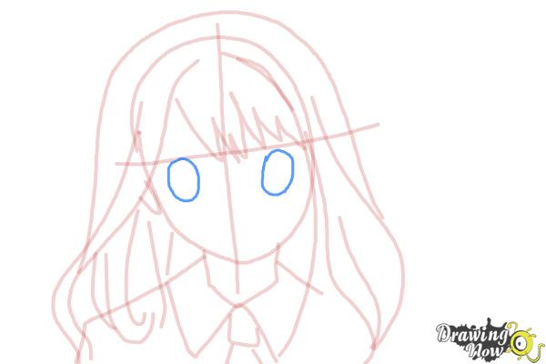 How to Draw Hermione Granger, Manga - Step 9