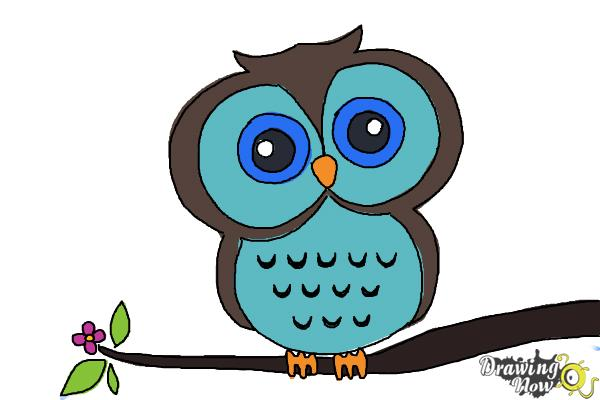How To Draw An Owl For Kids Drawingnow