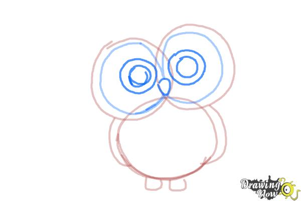 How to Draw an Owl for Kids - Step 5