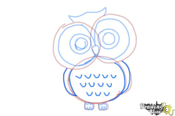 How to Draw an Owl for Kids - Step 7
