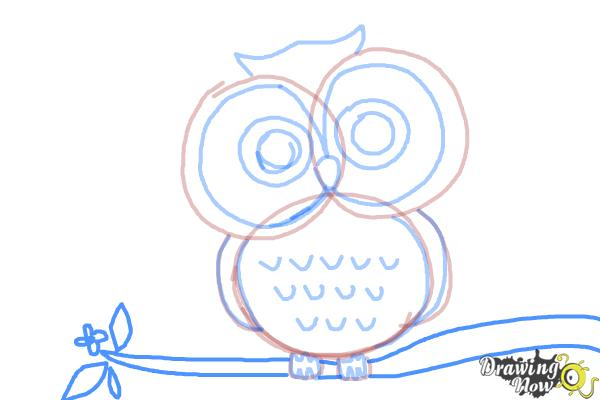 How to Draw an Owl for Kids - Step 8