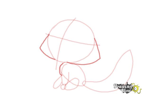 How to Draw a Fox For Kids - Step 7