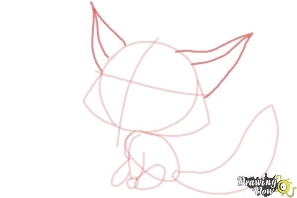 How to Draw a Fox For Kids - Step 8