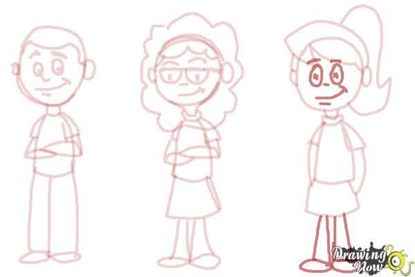 How to Draw Cartoon People - Step 10