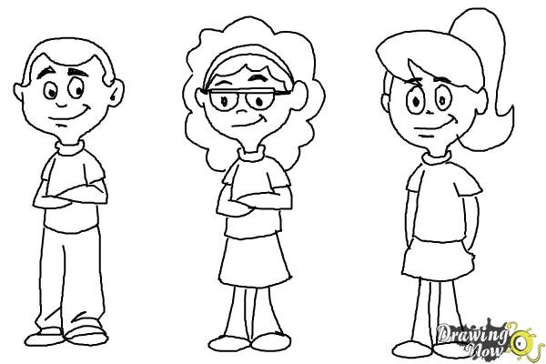how to draw cartoon people step 11