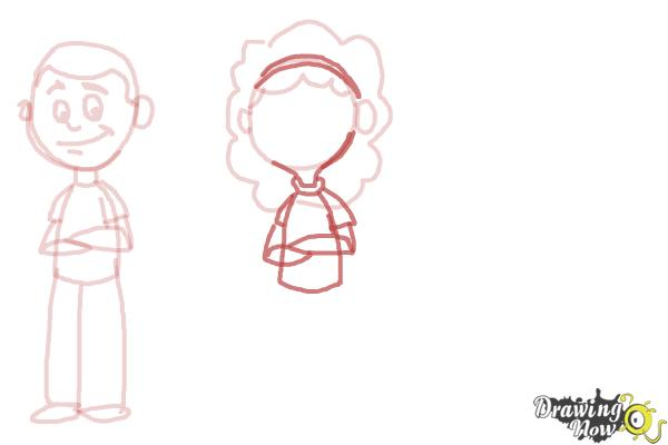 How to Draw Cartoon People - Step 5