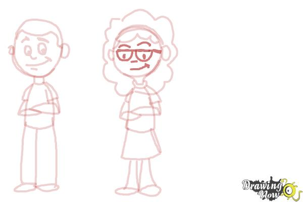 How to Draw Cartoon People - Step 7