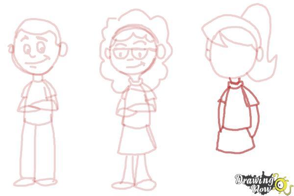 How to Draw Cartoon People - Step 9