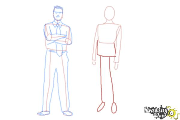 How to Draw Real People - Step 12