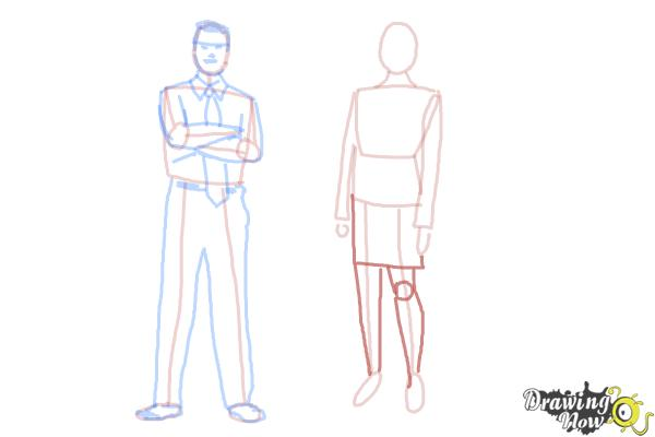 How to Draw Real People - Step 13