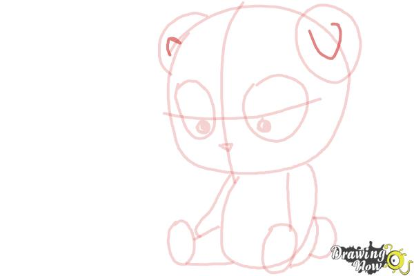 How to Draw a Panda For Kids - Step 11