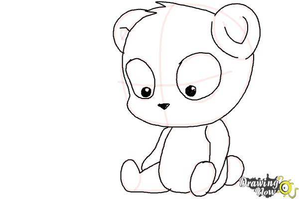 How to Draw a Panda For Kids - Step 12