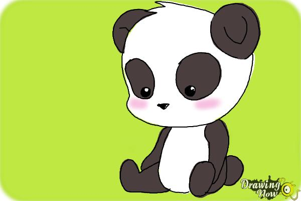 How to Draw a Panda For Kids - Step 13