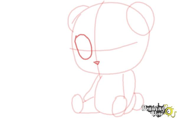 How to Draw a Panda For Kids - Step 9