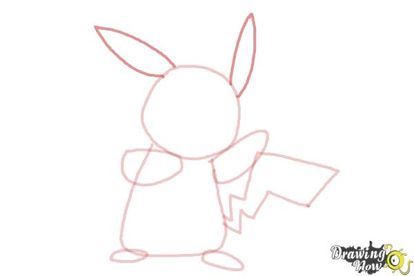 How to Draw Pikachu Step by Step - Step 5