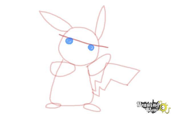 How to Draw Pikachu Step by Step - Step 6