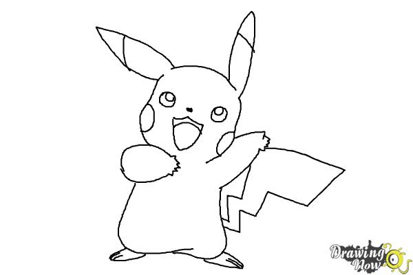 How to draw pikachu step by step step 8