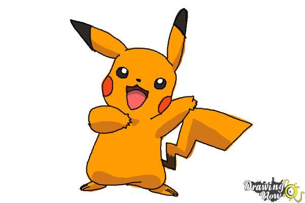 How to Draw Pikachu Step by Step - Step 9