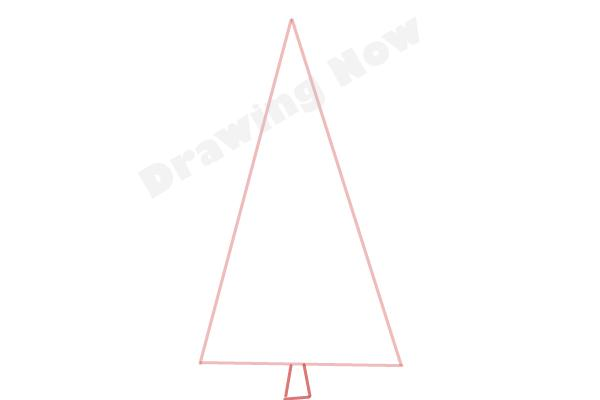 How to draw a Pine tree - Step 2