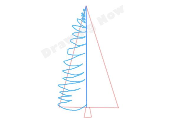 How to draw a Pine tree - Step 3