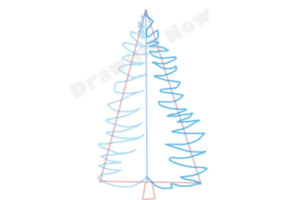 How to draw a Pine tree - Step 4