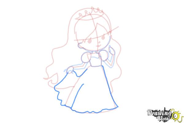 How to Draw a Princess For Kids - Step 10
