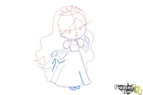 How to Draw a Princess For Kids - Step 11