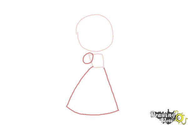 How to Draw a Princess For Kids - Step 2