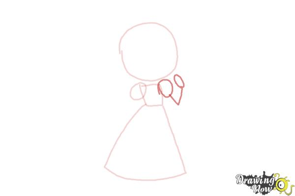 How to Draw a Princess For Kids - Step 3