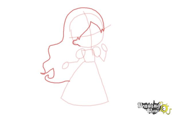 How to Draw a Princess For Kids - Step 5