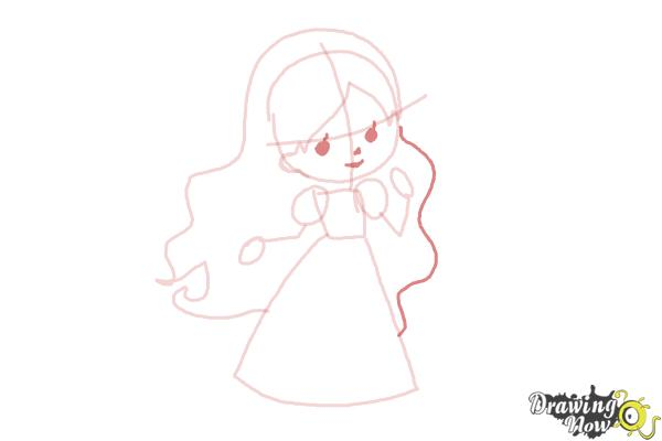 How to Draw a Princess For Kids - Step 6