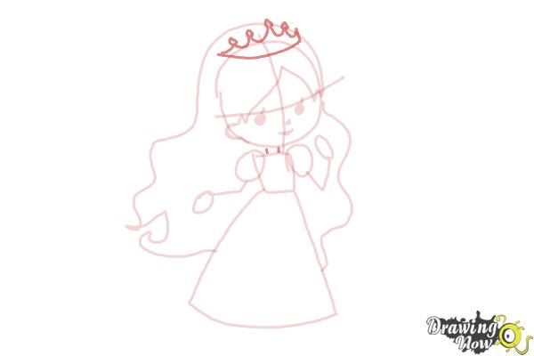 How to Draw a Princess For Kids - Step 7