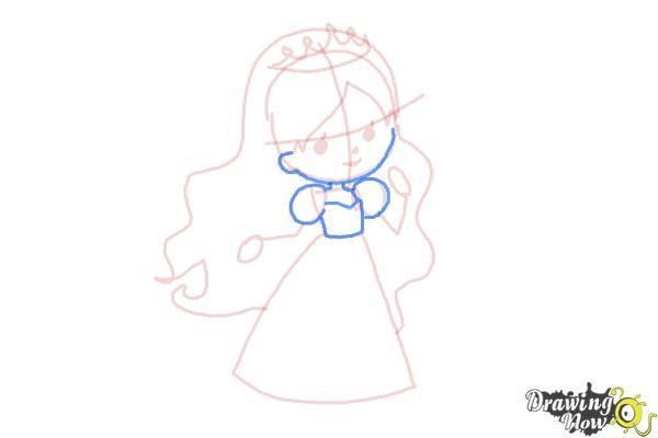 How to Draw a Princess For Kids - Step 8