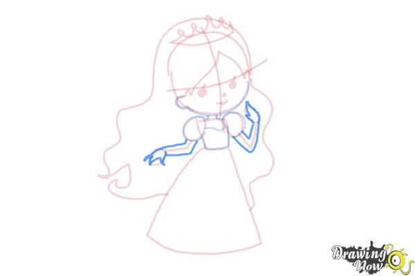 How to Draw a Princess For Kids - Step 9
