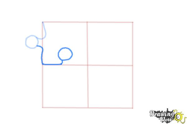 How to Draw Puzzle Pieces - Step 4