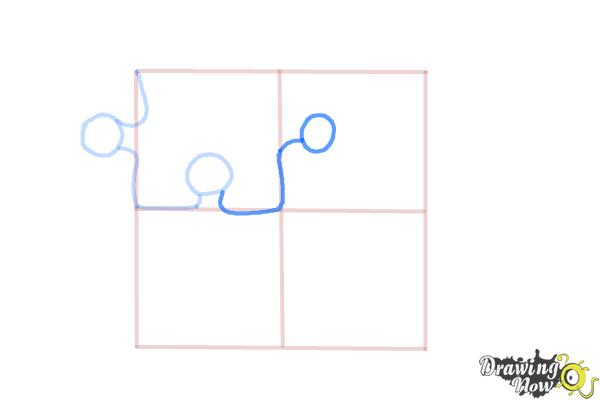 How to Draw Puzzle Pieces - Step 5